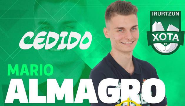 El portero Mario Almagro, nueva incorporación del Osasuna Magna.