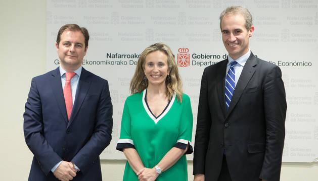 foto de Pablo Cámara, Izaskun Goñi y Zenón Vázquez.