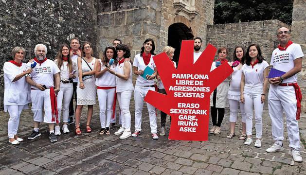 Periodistas de medios de comunicación en Navarra.
