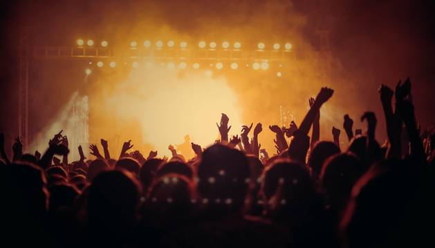 Vista de un concierto de música.