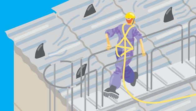 Campaña para prevenir accidentes en trabajos realizados en cubiertas y tejados