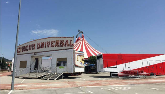 El Circo Universal, en la carpa del híper Eroski de Pamplona.