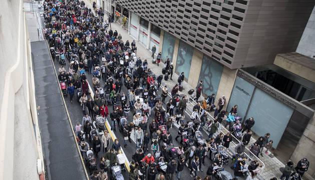 En octubre, manifestantes exigieron en Pamplona la devolución.