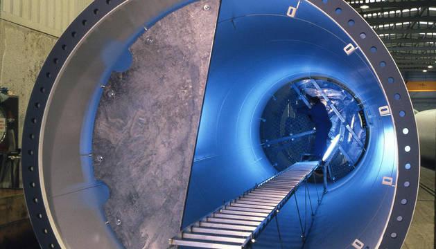 Apoyos Metálicos de Olazagutía está especializada en torres de aerogeneradores.