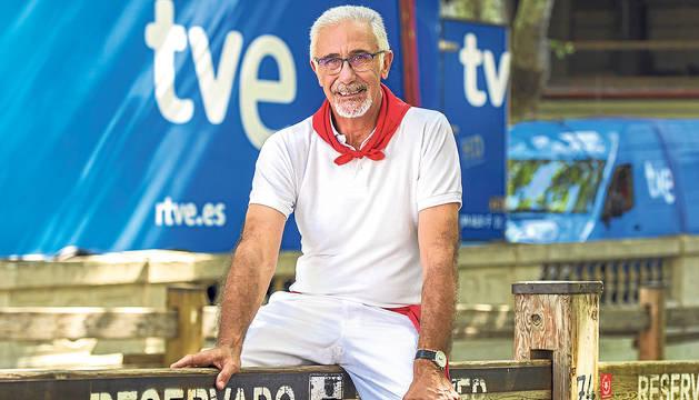 Javier Solano no falta a su cita anual con los encierros de San Fermín.