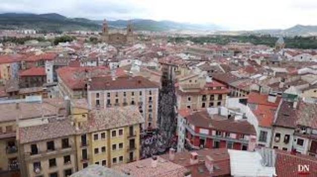 Encierro del 7 de julio desde la torre de San Cernin