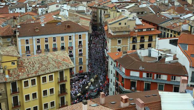 Tramo Ayuntamiento desde la Torre del Gallico de San Cernin.