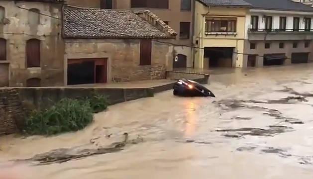 Imágenes de las inundaciones en Navarra