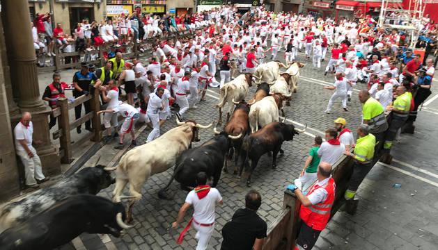 Segundo encierro de San Fermín 2009.