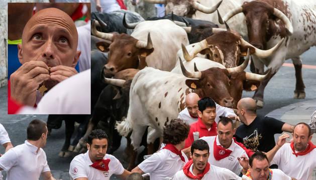 El herido en Santo Domingo es un conocido corredor pamplonés