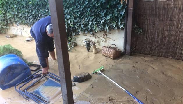 Imágenes de las inundaciones en Olite.