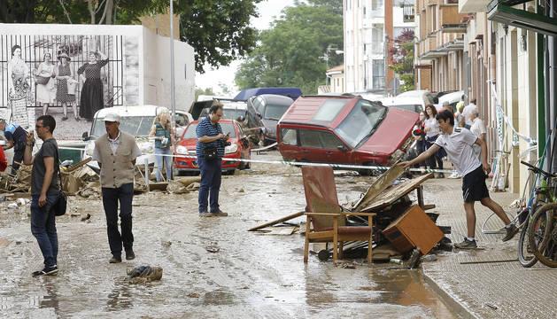 Fotos de las inundaciones en Tafalla, Olite, Beire y Pueyo