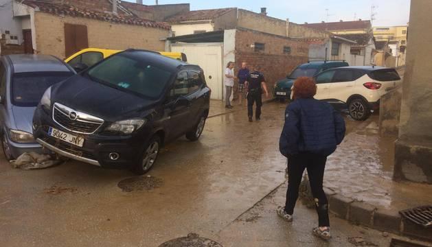 Este martes, al bajar el nivel de agua, en Olite