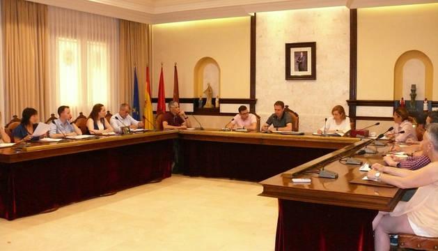 Imagen de la sesión plenaria en el Ayuntamiento de Cintruénigo.