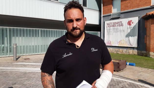 Adrián Del Campo, herido en el encierro: