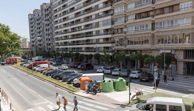 foto de Las obras afectarán a la zona que va desde la mediana centras a los edificios de la derecha.