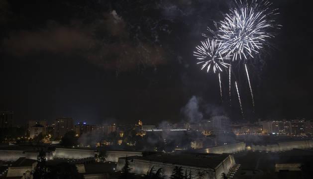 Foto de los fuegos del pasado 6 de julio.