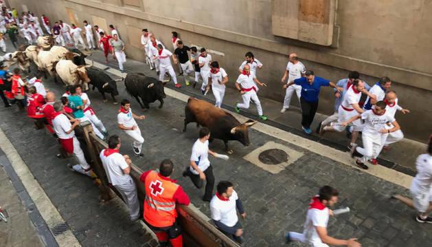 Séptimo encierro de San Fermín.