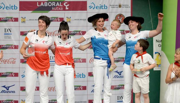 Las cuatro finalistas de categoría absoluta de la Emakume Master Cup.