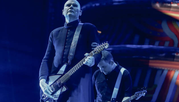 Billy Corgan, de The Smashing Pumpkins, en el Mad Cool Festival 2019.