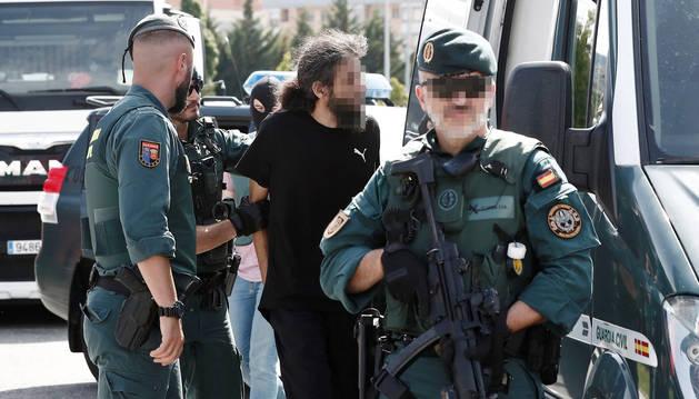 Foto del camionero arrestado el sábado en Pamplona por agentes de la Guardia Civil.