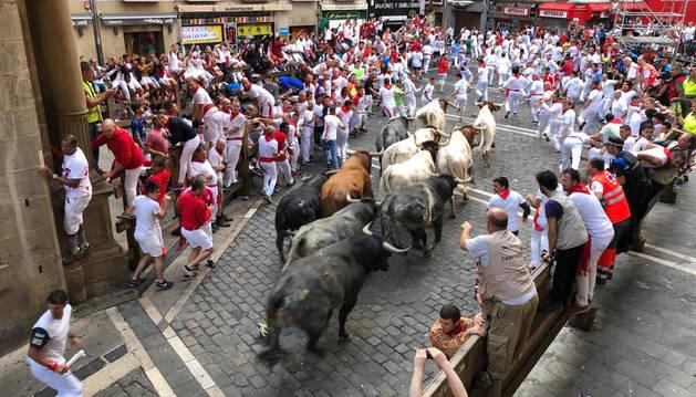 Octavo encierro de San Fermín.