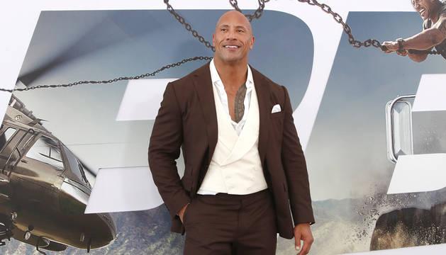 El actor Dwayne Johnson, 'La Roca',. durante el estreno de la última entrega de la saga 'Fast & Furious'.