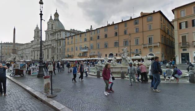 Imagen de la plaza Navona de Roma.