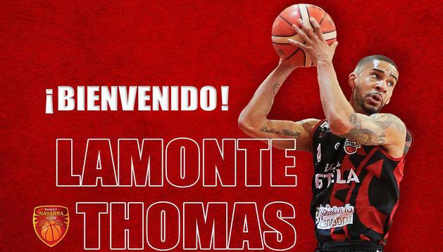 Basket Navarra da la bienvenida a Lamonte Thomas