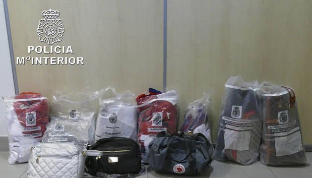 Muestras del material intervenido por la Policía Nacional.