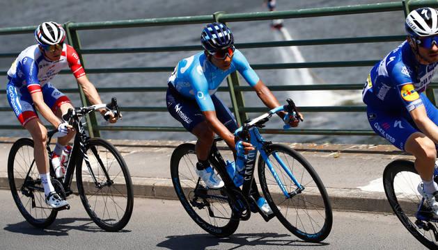 Nairo Quintana, durante una etapa del Tour de Francia.