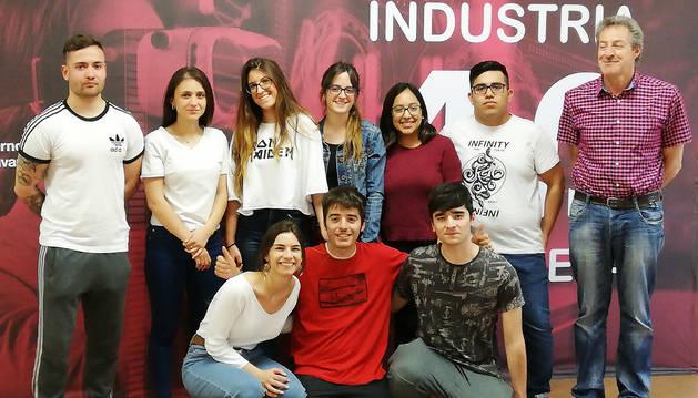 Alumnos de la UPNA participantes en uno de los seminarios del Aula 4.0.