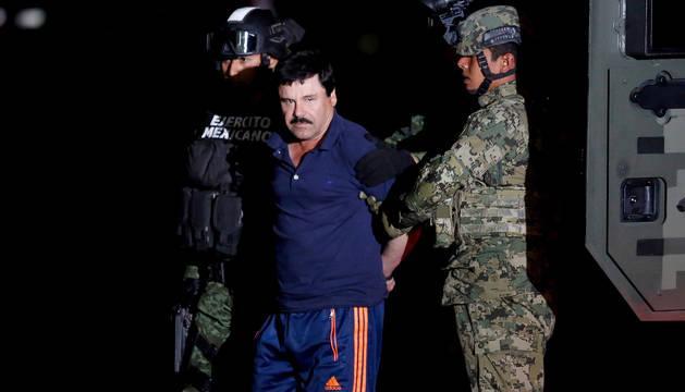 'El Chapo' Guzmán, tras su arresto en México.
