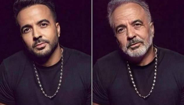 Foto del antes y el después de Luis Fonsi.