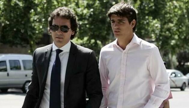 Foto de Juanma López y su representado, Álvaro Morata.