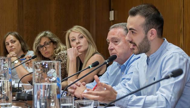 El portavoz socialista Jorge Crespo en una de las intervenciones realizadas en el pleno del jueves.