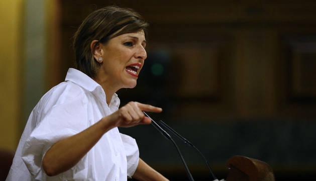 Foto de la diputada de Unidas Podemos y portavoz de Galicia En Común, Yolanda Díaz.