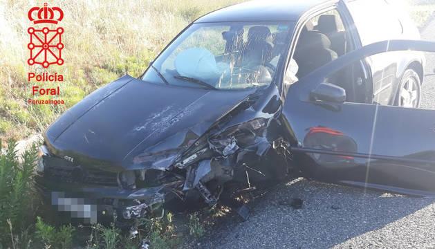 Foto del estado en el que ha quedado uno de los vehículos implicados.
