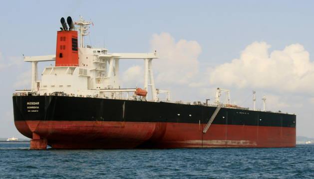Imagen del petrolero capturado por la guardia iraní.
