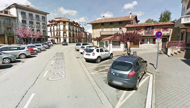 Imagen de una calle de la localidad de Alsasua.