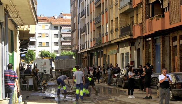 La calle Martínez Espronceda, una de las más afectadas