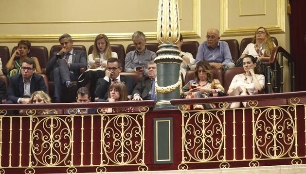 Imagen de María Chivite en la sesión de investidura de Pedro Sánchez.