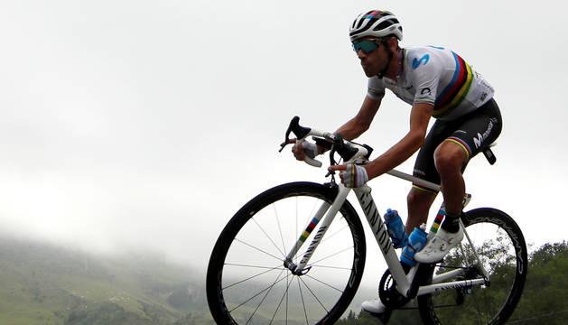 Valverde, en la etapa del Tourmalet.