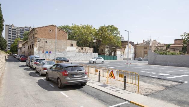 Imagen del nuevo aparcamiento en la calle Terraplén.