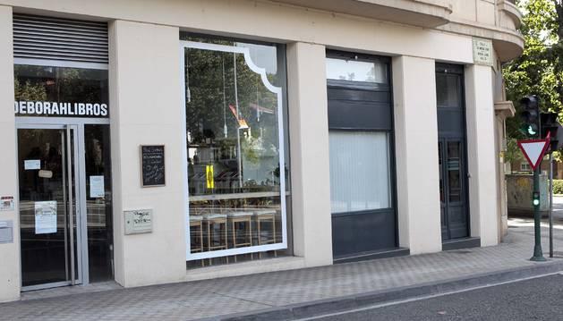 La librería Deborahlibros, en la avenida Baja Navarra de Pamplona, abrió en diciembre de 2015.