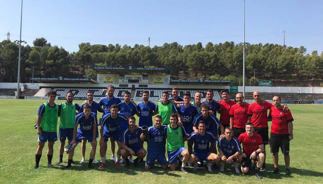 foto de El conjunto de Tudela, este lunes, en su estadio.