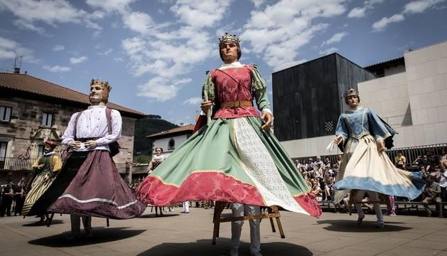 Celebración del Día de Santiago en las fiestas de Elizondo 2019