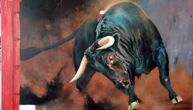 La exposición 'La belleza del toro en pintura', en la galería Michel Menéndez