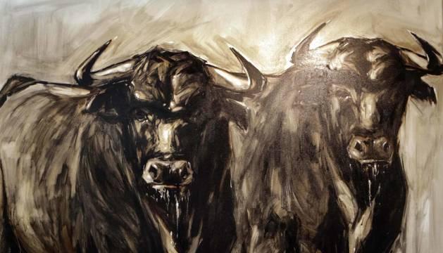 Diez pintores y tres escultores protagonizan una exposición sobre el toro en la galería Michel Menéndez