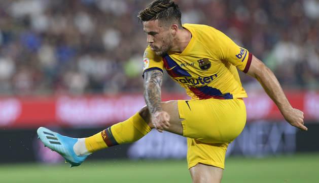 Carles Pérez, goleador del Barcelona en Kobe.